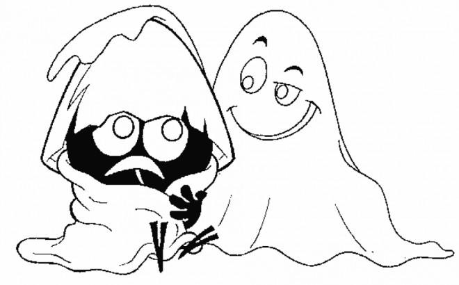 Coloriage et dessins gratuits Calimero et le fantome à imprimer