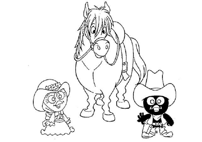 Coloriage et dessins gratuits Calimero et Priscilla en ligne à imprimer