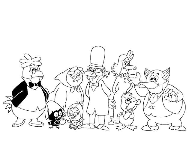 Coloriage et dessins gratuits Calimero et ses amis à imprimer