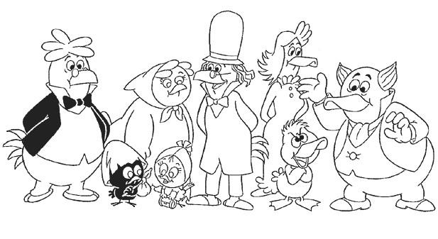 Coloriage et dessins gratuits Calimero et ses amis en ligne à imprimer