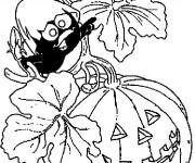 Coloriage et dessins gratuit Calimero Halloween à imprimer