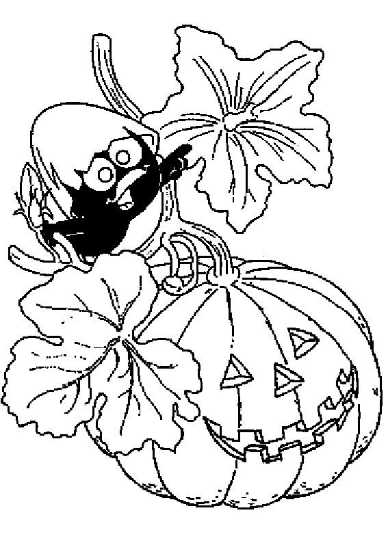 Coloriage et dessins gratuits Calimero Halloween à imprimer