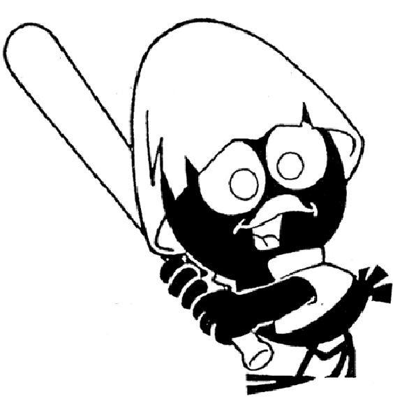 Coloriage et dessins gratuits Calimero  joue du baseball à imprimer