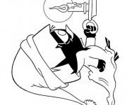 Coloriage Calimero marche en dormant