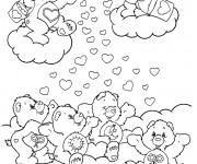 Coloriage et dessins gratuit Bisounours couleur à imprimer