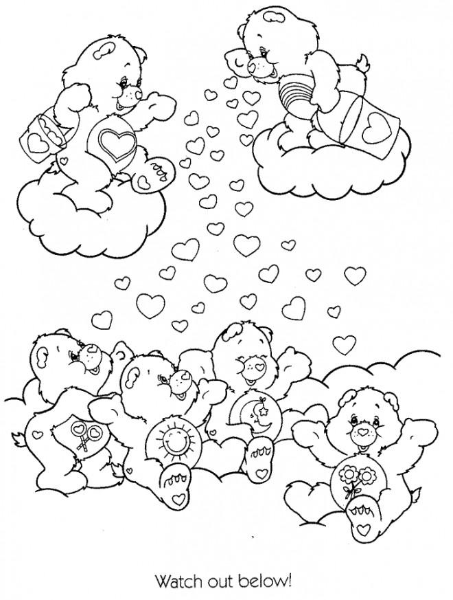 Coloriage et dessins gratuits Bisounours couleur à imprimer