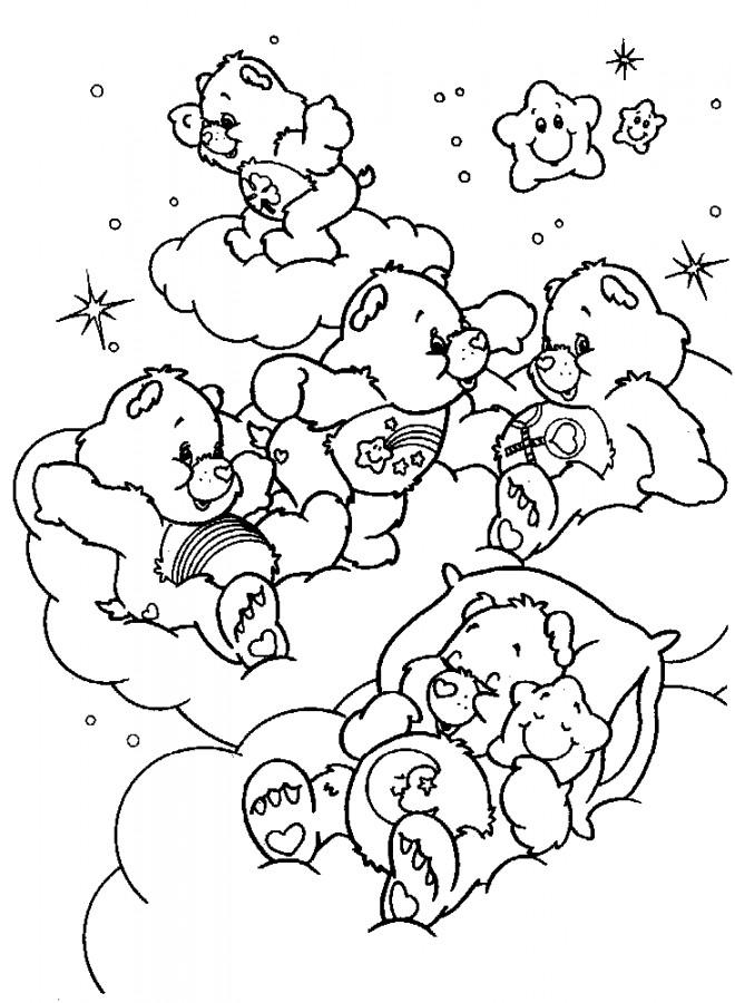 Coloriage et dessins gratuits Bisounours dessin animé à imprimer