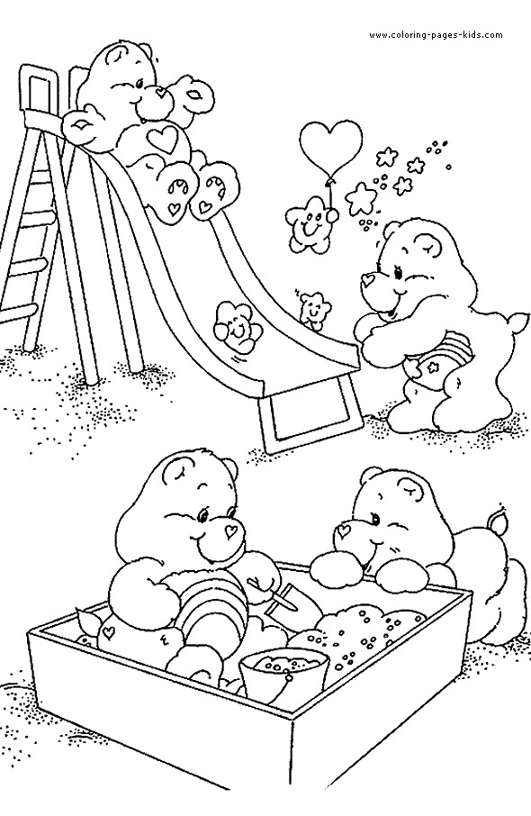 Coloriage et dessins gratuits Calinours au jardin à imprimer