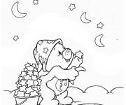 Coloriage et dessins gratuit Calinours collecte les étoiles à imprimer