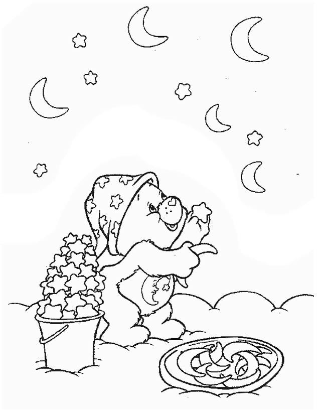Coloriage et dessins gratuits Calinours collecte les étoiles à imprimer