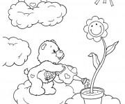 Coloriage et dessins gratuit Calinours dans les nuages à imprimer