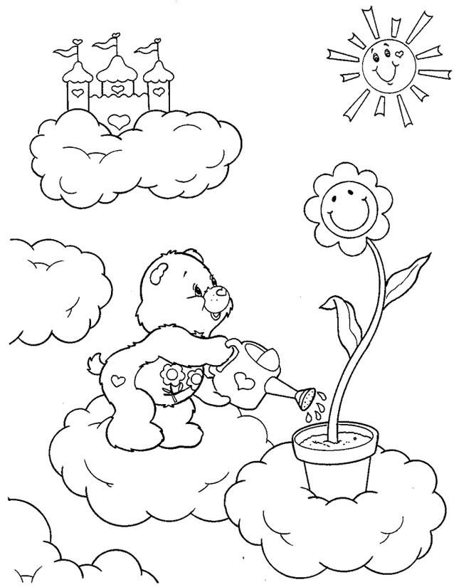 Coloriage et dessins gratuits Calinours dans les nuages à imprimer