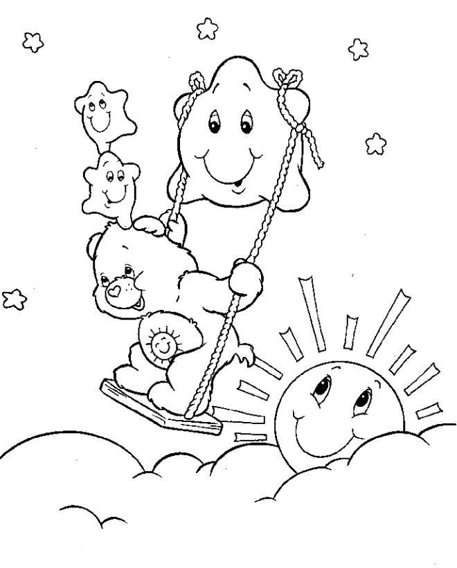 Coloriage et dessins gratuits Calinours et la soleil à imprimer