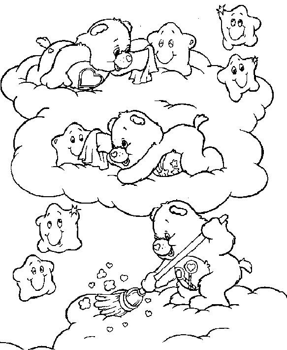 Coloriage et dessins gratuits Calinours et les étoiles à imprimer