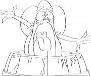 Coloriage et dessins gratuit Calinours personnages à imprimer