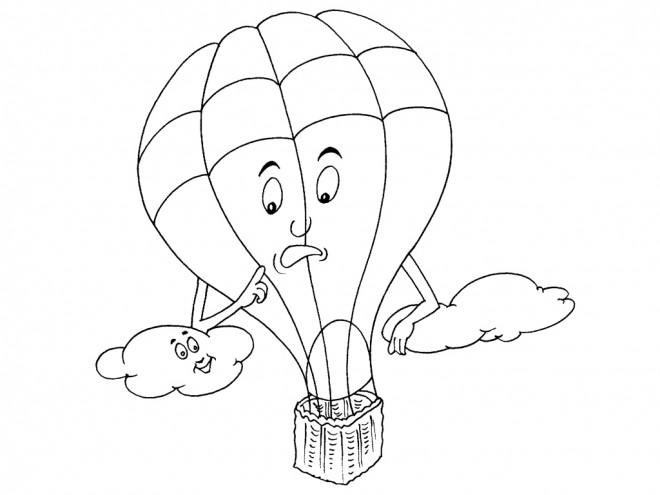 Coloriage et dessins gratuits Dessin Calinours dans le ciel à imprimer