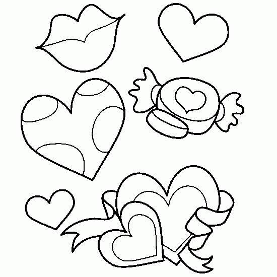 Coloriage et dessins gratuits Bonbon d'amour à imprimer