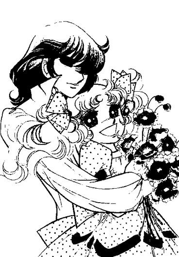 Coloriage et dessins gratuits Candy et Ferry les deux amoureux à imprimer
