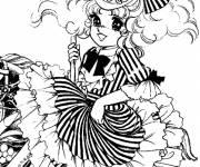 Coloriage et dessins gratuit Candy et jolie robe à imprimer