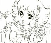 Coloriage et dessins gratuit Candy joyeuse à imprimer