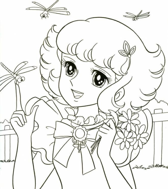 Coloriage et dessins gratuits Candy joyeuse à imprimer