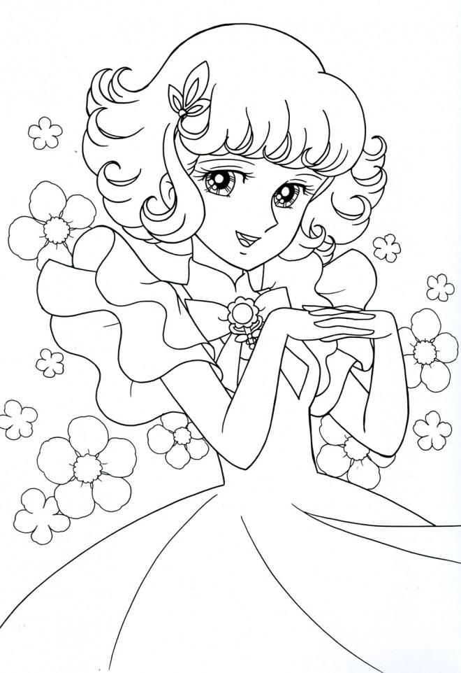 Coloriage et dessins gratuits Candy  simple gratuit à imprimer