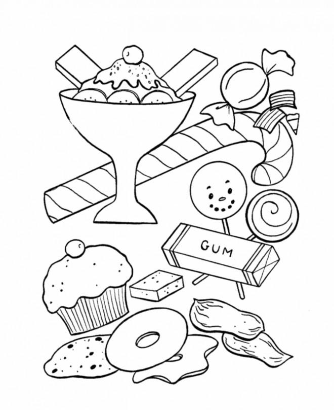 Coloriage et dessins gratuits La table de Candy à imprimer