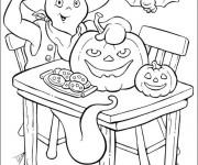 Coloriage Casper en Halloween
