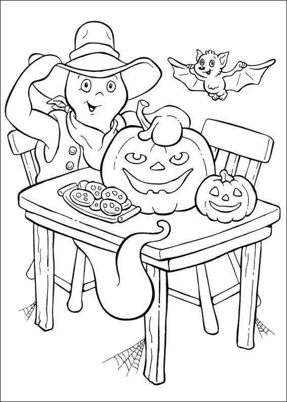 Coloriage et dessins gratuits Casper en Halloween à imprimer