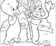 Coloriage et dessins gratuit Casper et son amie à imprimer