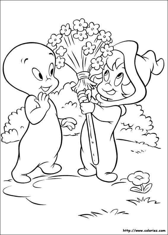 Coloriage et dessins gratuits Casper et son amie à imprimer