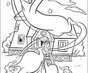 Coloriage et dessins gratuit Casper fait peur à ses oncles à imprimer