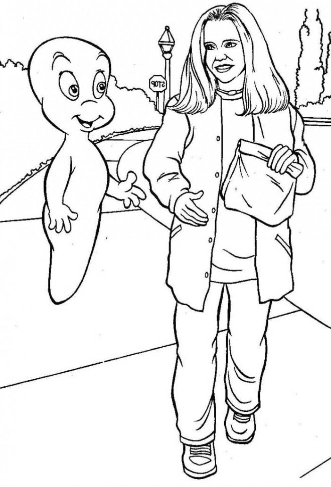 Coloriage et dessins gratuits Casper gratuit en ligne à imprimer