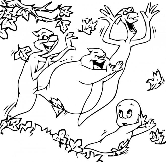 Coloriage et dessins gratuits Casper s'enfuit à imprimer