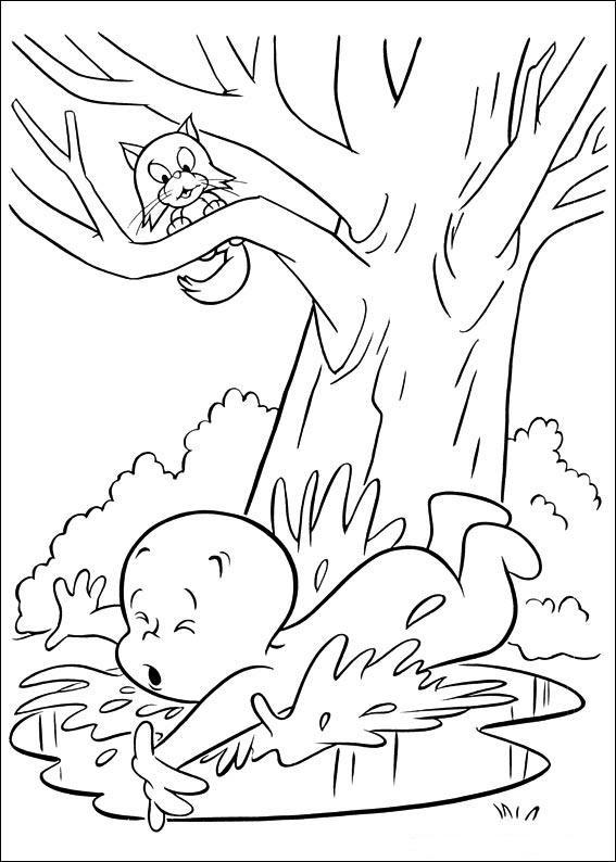 Coloriage et dessins gratuits Casper s'est tombé à imprimer