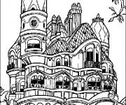 Coloriage et dessins gratuit La maison de Casper à imprimer