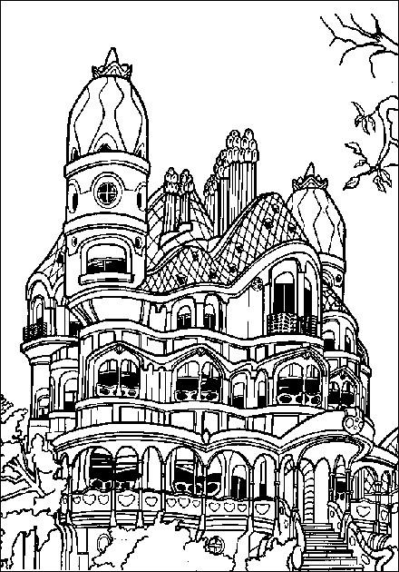 Coloriage et dessins gratuits La maison de Casper à imprimer