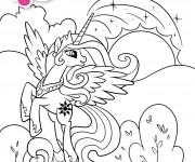 Coloriage Celestia