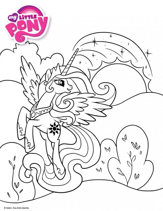 Coloriage et dessins gratuits Celestia à imprimer