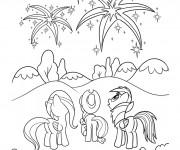 Coloriage et dessins gratuit Celestia avec ses amies à imprimer