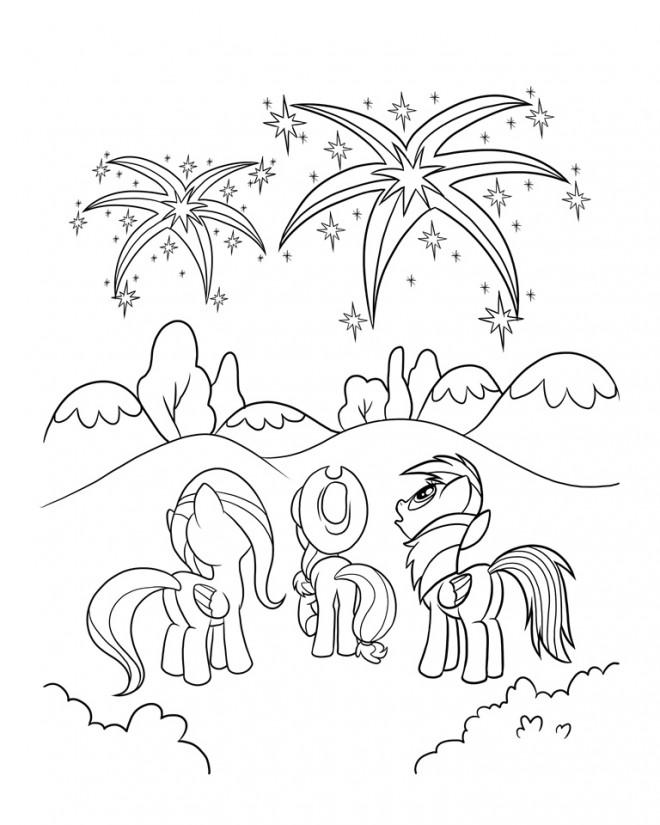 Coloriage et dessins gratuits Celestia avec ses amies à imprimer