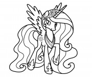 Coloriage Celestia facile