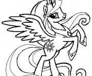 Coloriage Celestia L'unicorne