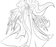 Coloriage Celestia La reine