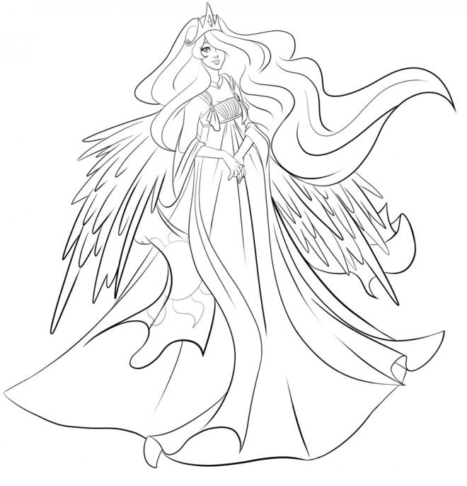 Coloriage celestia la reine dessin gratuit imprimer - Coloriage princesse celestia ...