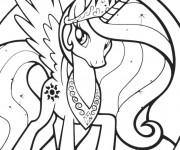 Coloriage et dessins gratuit Celestia Mon Petit Poney à imprimer