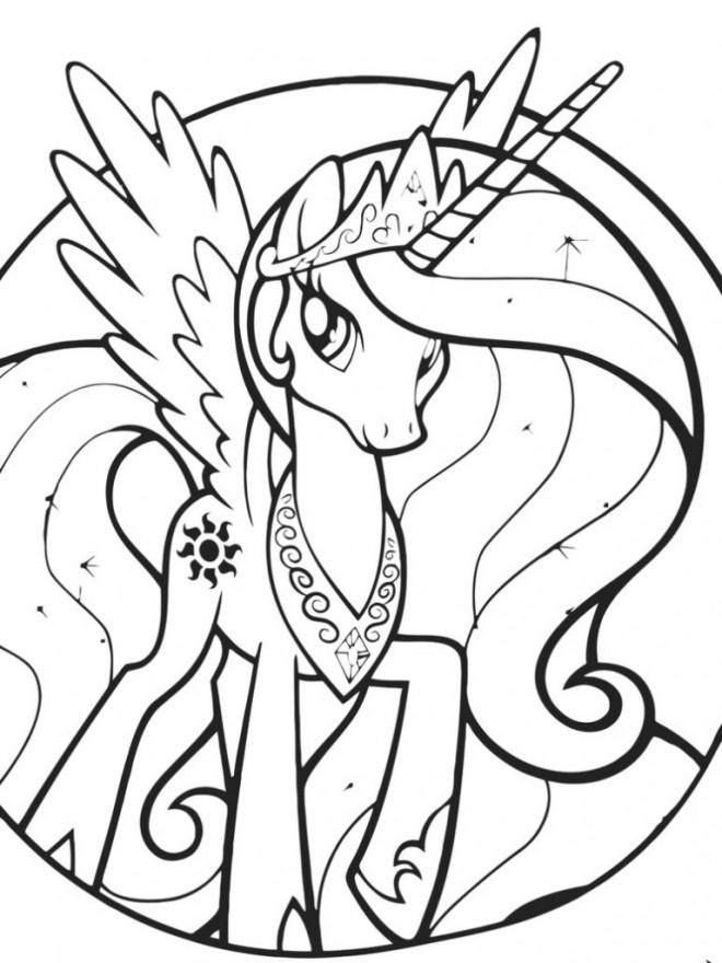 Coloriage celestia mon petit poney dessin gratuit imprimer - Coloriage princesse celestia ...