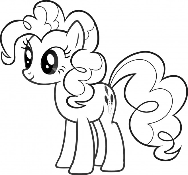 Coloriage et dessins gratuits Celestia Pinkie Pie à imprimer