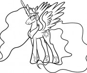 Coloriage Celestia simple
