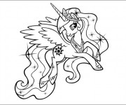 Coloriage Celestia sourit